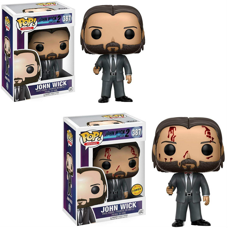 Funko Pop JOHN WICK 387# Vinyl Action & Toy Figures Collectible Model Toy For Children 10cm With Retail Box Christmas Gifts Toy