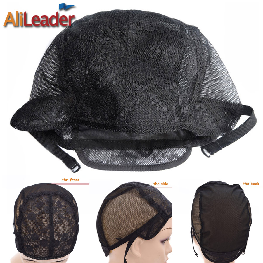 Hairnets Nice Glueless Lace Wig Caps For Making Wigs Adjustable Invisible Hair Net For Wigs 1pc Factory Price Wig Making Accessories Hair Extensions & Wigs