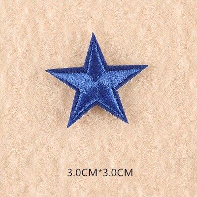 1 шт. смешанные нашивки со звездами для одежды, железная вышитая аппликация, милая нашивка эмблема на ткани, одежда, аксессуары для одежды DIY 61 - Цвет: 61R