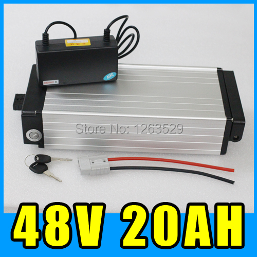 48v 20ah battery electric bike lithium battery 1000W Pack , ebike electric scooter rear rack Aluminum alloy conhismotor electric bike lithium battery hallomotor ebike metal case h22p 24v 17 6ah seat tube li ion polymer battery pack