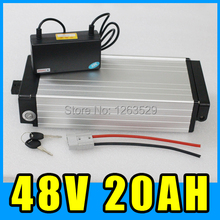 48V 20AH Aluminum Rear rack Lithium battery electric bicycle Scooter Power  250W 350W 500W 1000W 4820-001