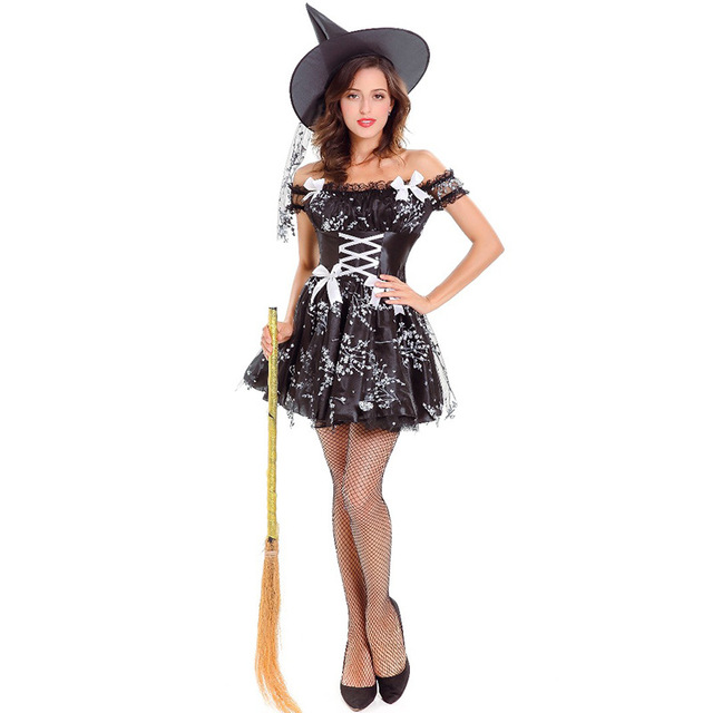 Sexy Hexe Kostüm Frau Kostüm Leistung Tanzshow Kostüme Kleid Up ...