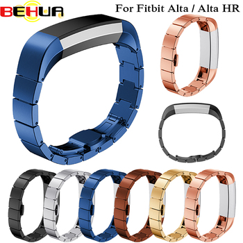 7 Colors Stainless Steel Metal Watchband for Fitbit Alta Alta HR Strap Rate Heart Smart Bracelet A Bead High Quality Watch Band