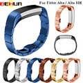 Bracelet de montre en acier inoxydable 7 couleurs pour Fitbit Alta Alta HR Bracelet de fréquence cardiaque Bracelet intelligent une perle Bracelet de montre de haute qualité
