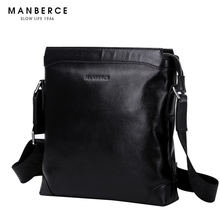 MANBERCE Brand Handbag Men Shoulder Bags Business Casual Genuine Leather Crossbody Bag Briefcase Men's Messenger Bag