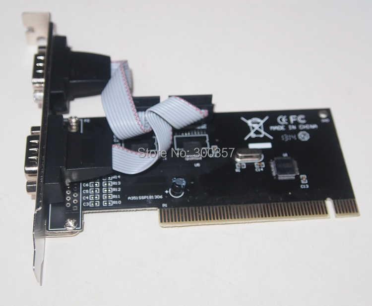 PCI COM Kartu 2 Port 9Pin Serial RS232 Serial Adaptor Kartu
