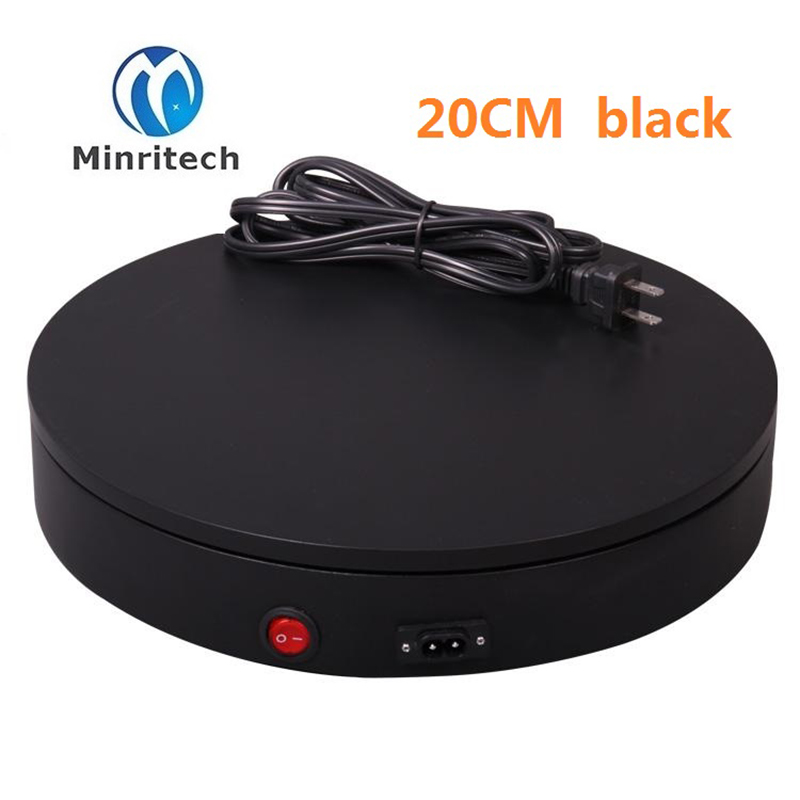 Merchandise Display Base 360 Degree Electric Rotating Turntable for Jewelry 15kg Capacity 20CM Automatic Revolving Platform ems free shipping 3d photo shop display rotating turntable 360 degree mannequin photography stand