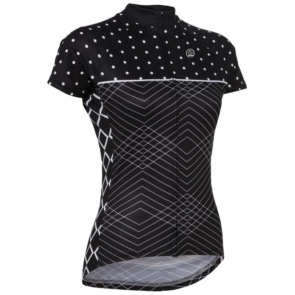 Camisa de ciclismo Verão Ciclismo desgaste da bicicleta da menina Mulheres roupas de ciclismo manga curta Bicicleta equipe Maillot equitação corrida de ciclismo