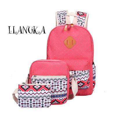 2017 Fashion  Women Canvas Backpack Schoolbags School For Girls Teenagers Casual Travel Female Bags Rucksack Cute Teenage