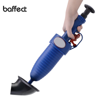 2018 New High Pressure Air Drain Blaster Pump Plunger Sink Pipe Clog Remover Toilets Bathroom Kitchen Cleaner Kit Dropshipping