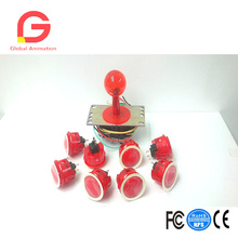 JLF-TP-8YT Joystick OBSC-30-CR Clear Red Balltop And Translucent Red Shaft Cover And Dust Washer red dust novel