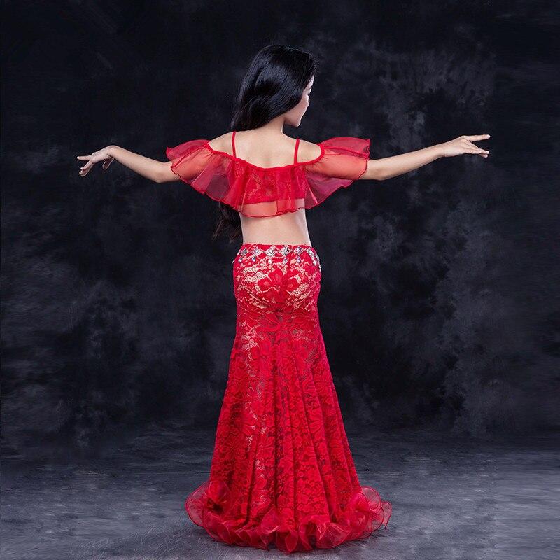 Дети ребенок девочка малыш живот Танцы Восточный танец Индийский Танцы танцы костюм одежда бюстгальтер, пояс шарф кольцо юбка комплект с пл...