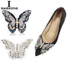 1pcs butterfly Bridal Wedding Party Shoes Accessories High Heels DIY Sandals Pearl boots Shoe Decorations Flats flower