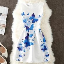 Robe Femme Ete 2018 Women Floral Dress Elegant Butterfly Girlish Short Dress Summer Robe Femme Vintage