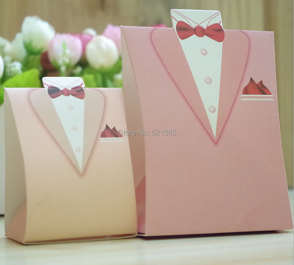 Wholesale 4000pcs Wedding Candy Boxes Pink Wedding Favors Gifts Box ...
