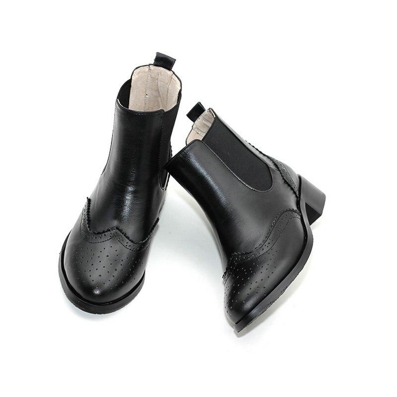 2018 Noir red De Élastique Bottes Plat Bande Bout Taille Martin Chaussures Brown Chelsea Femmes Fond Pointu Nouveau Black Carved Petite black Courtes yellow 0rnUq8x0