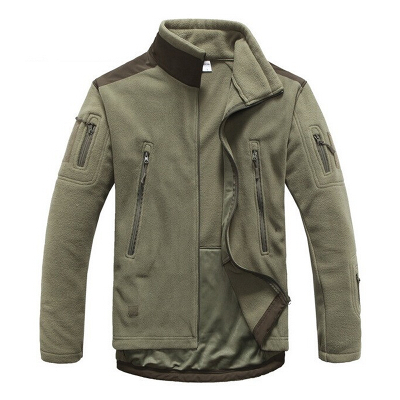 ФОТО Men Jacket Thick Warm Breathable Outdoor Camping Softshell Windstopper Thermal Men Fleece Jacket Men Tactical Military Jacket