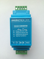 Free Shipping Acve Photoelectric Isolaon RS422 Converter RS232 Baud Rate Adapve Isolaon Power Rail Installaon