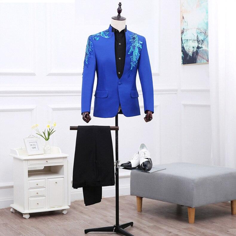 Блейзер для ночного клуба, мужской костюм, куртка,, сценические костюмы для певцов, DJ, черные мужские костюмы, пиджаки, черные блестки M