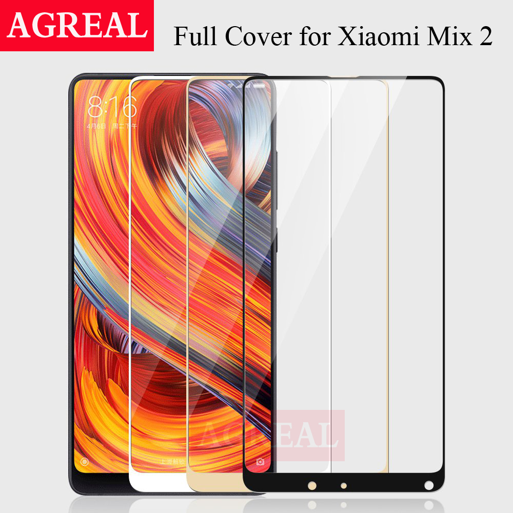 AGREAL 9H 2.5D For Xiaomi Mi Mix 2 Tempered Glass Xiaomi Mi Mix2 Screen Protector Full C ...