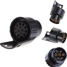 Trailer-Adapter-Connector Towing-Socket Towbar Pin-Caravan 12V 7-Pin-To-13 Plastic