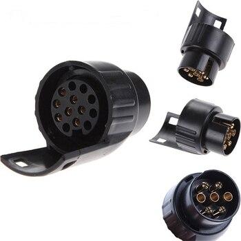 7 Pin To 13 Mini Car Truck Trailer Connector Electric Adapter Plug Towbar