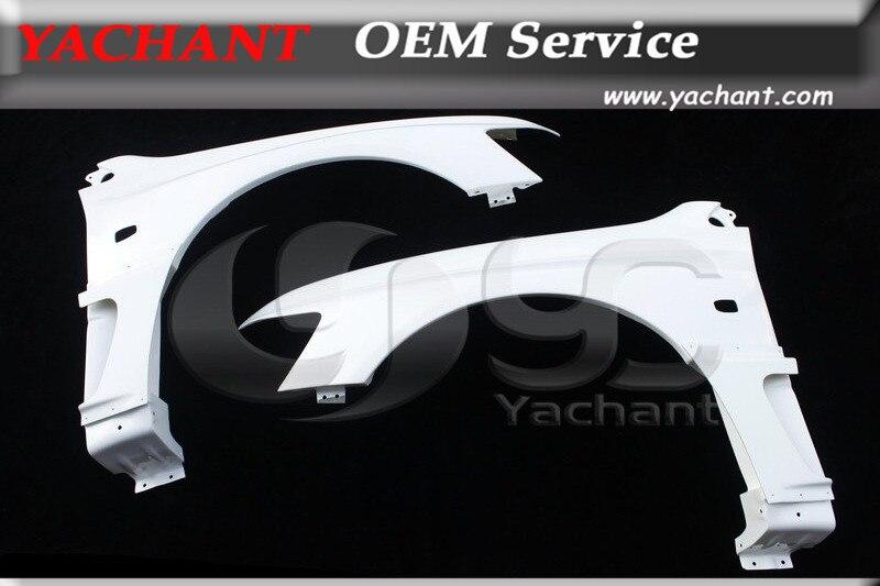 Автомобильный Стайлинг FRP стекловолокно переднее крыло 4 шт. подходит для 2001 2007 Lancer Evolution EVO 7 9 VS Стиль переднее крыло с боковой воздушной панелью