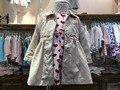 Sciaccamini abrigo primavera otoño inglaterra estilo de los bebés outwear casual 1 2 3 4 años de ropa de bebé niña Rosa Albaricoque primavera abrigo