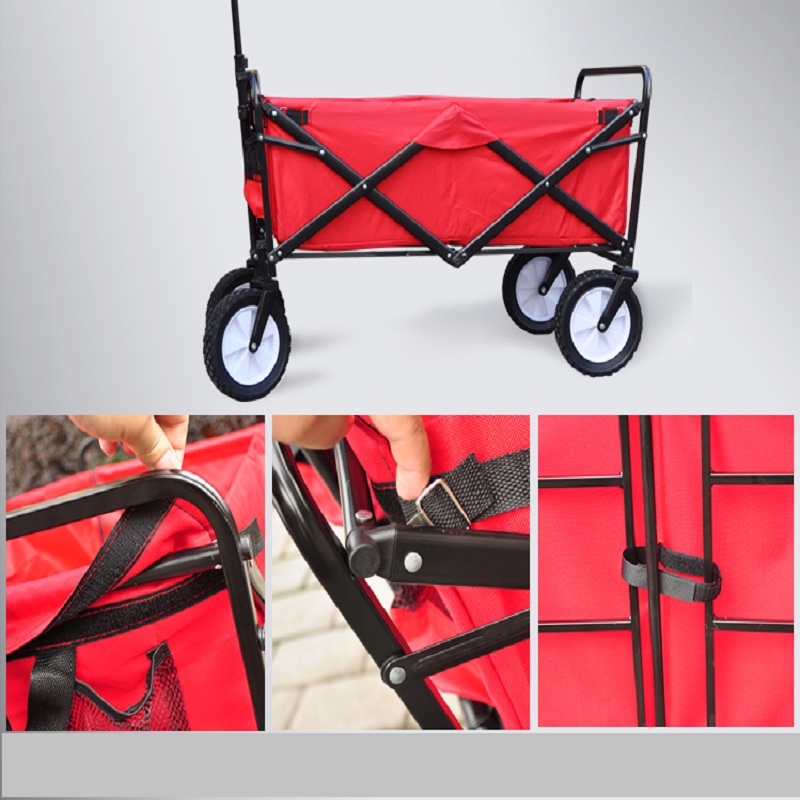 4 wheels outdoor camp cart, fold portable shopping cart, baby carriage with seat belt Islamabad