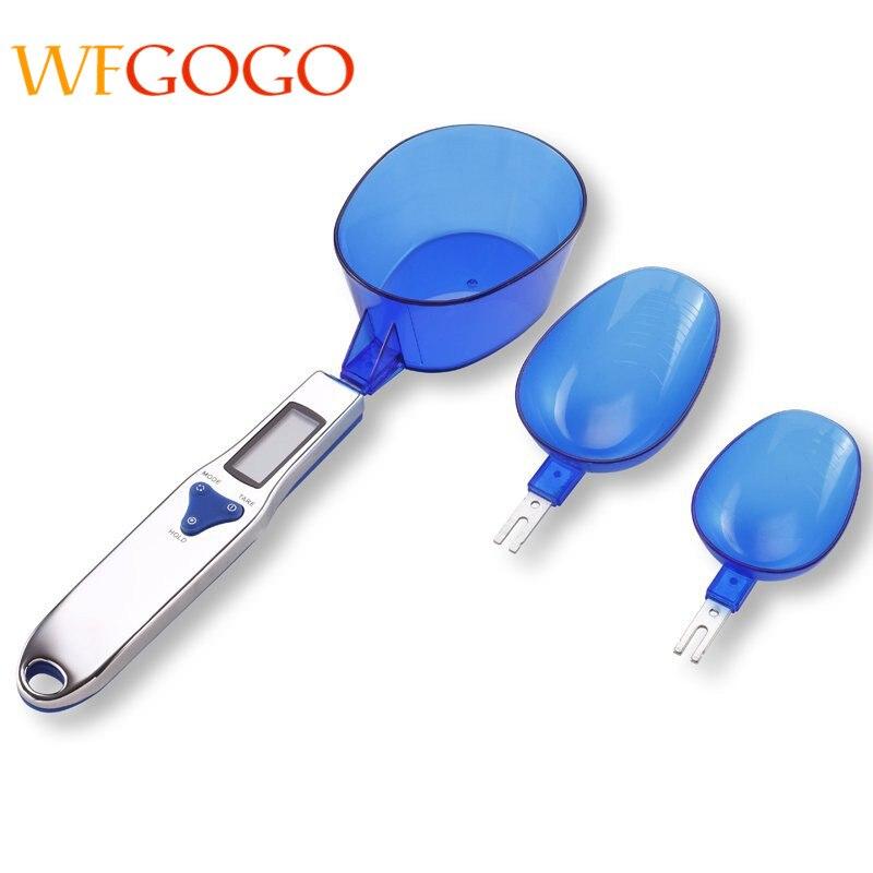 WFGOGO 300g/0,1g Tragbare LCD Digital Küchenwaage Messlöffel Gram Elektronische Löffel Gewicht Volumn Nahrungsmittelskala 3 teile/satz