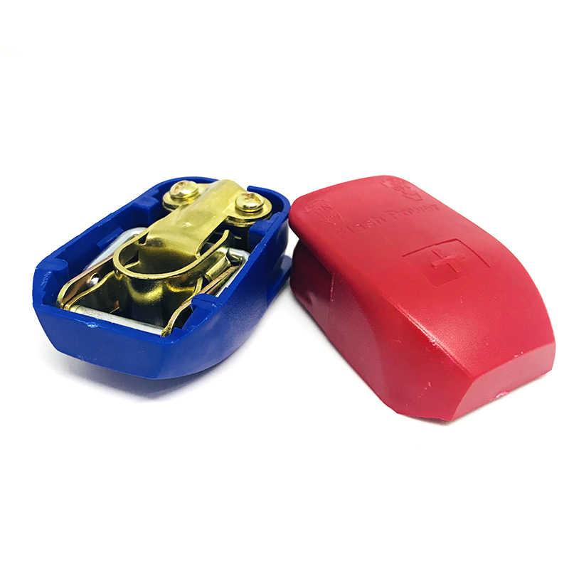 2 adet oto araba 12V pil Terminal konnektörü anahtarı hızlı bırakma konnektörleri pil hızlı bağlantı terminalleri bmw ford için vw