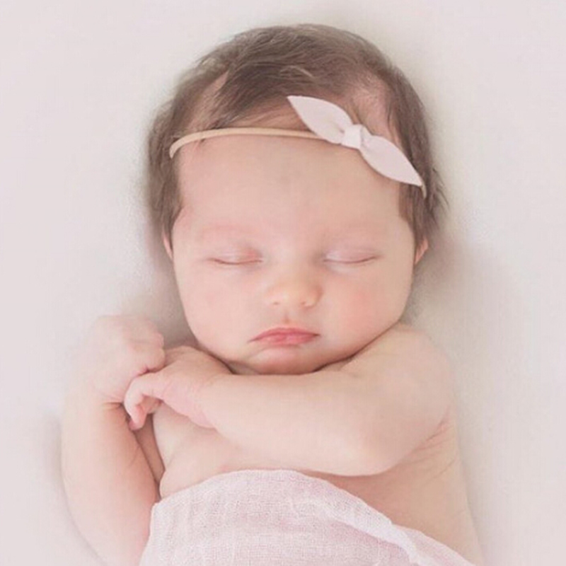 1 PC Lovely Newborn Bow Headband Solid Fabric Bow Headbands Cute Kids Hair  Accessories Small Hair Bows Hair Band Accessories 7e80d00f75e
