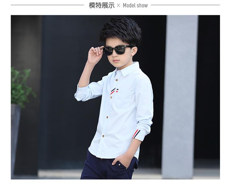 HTB1ykF.PpXXXXXGXXXXq6xXFXXXk - 2017 Boys Clothes New Spring Autumn Boys' Cotton Casual Shirts Kids Long Sleeve Shirt Boys Blouses Turn-Down Collar Shirt