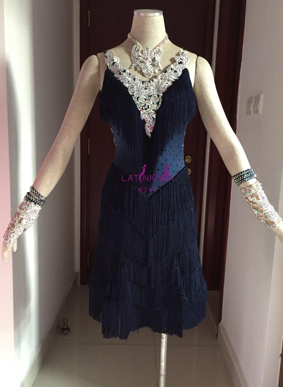 KAKA-NL15123,Women Dance Wear,Pear Beading Latin Dress,Salsa Dress Tango Samba Rumba Chacha Dress,women Dance Dress