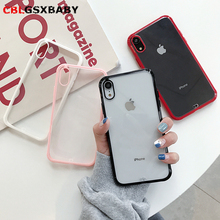 2019 New Transparent candy color Phone Case Cover For iPhone 11 Pro Max 7 8 6 6S Silicon X XR XS Coque