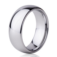 8mm Classic Tungsten Carbide Ring For Men S Wedding Band Silver Color Bridal Jewelry New All