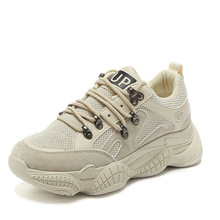 Fashion Bright and bright net red womens shoes breathable wild thick sports i super fire casual women sneakers
