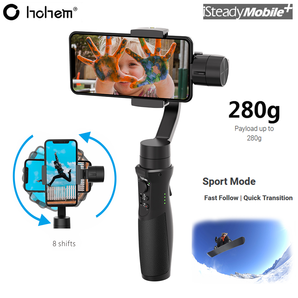 Hohem iSteady Mobile Plus 3-Axis Handheld Gimbal Stabilizer Payload 280g for iPhone XS Samsung Huawei Xiaomi Pk Zhiyun Smooth 4Hohem iSteady Mobile Plus 3-Axis Handheld Gimbal Stabilizer Payload 280g for iPhone XS Samsung Huawei Xiaomi Pk Zhiyun Smooth 4