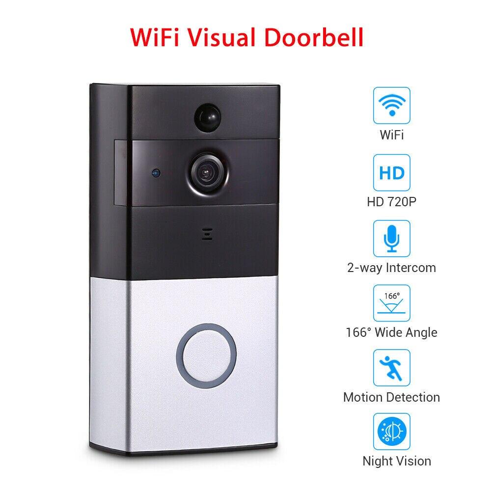 Sonnette HD 720 P WiFi judas vidéo interphone visuel Android caméra sans fil Vision nocturne PIR sécurité Cam Smart porte cloche
