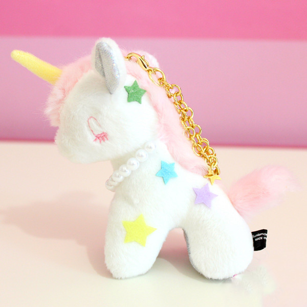 10CM Lovely Plush Unicorn Horse Dolls Stuffed Unicorn Plush <font><b>Toys</b></font> Doll Keychain for <font><b>Kids</b></font> Christmas Gift