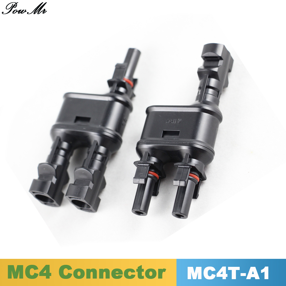 10 Pairs MC4  T/ Y Branch Connector 1 to 2 Solar PV MC4 Branch Connectors Solar Energy Adapter Solar Panel PowMr 25 years quality warranty 2pairs tuv ip67 mc4 connector solar cell pv connector free shipping