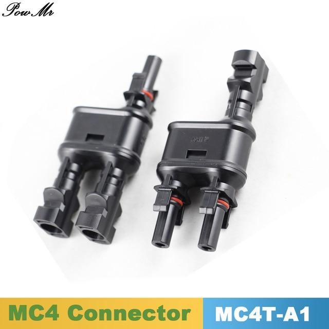 10 paires MC4 T/Y connecteur de branche 1 à 2 solaire PV MC4 connecteurs de branche énergie solaire adaptateur panneau solaire PowMr