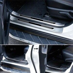 Image 4 - Vtear Für Toyota RAV4 RAV 4 2013 2018 Edelstahl Innen Tür Sill Schutz Pedal Scuff Platte Abdeckung Borte zubehör