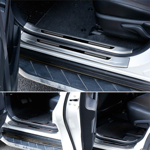 Image 4 - Vtear Protector interior de acero inoxidable para Toyota RAV4 RAV 4, Protector de placa de desgaste de Pedal de alféizar de puerta, accesorios