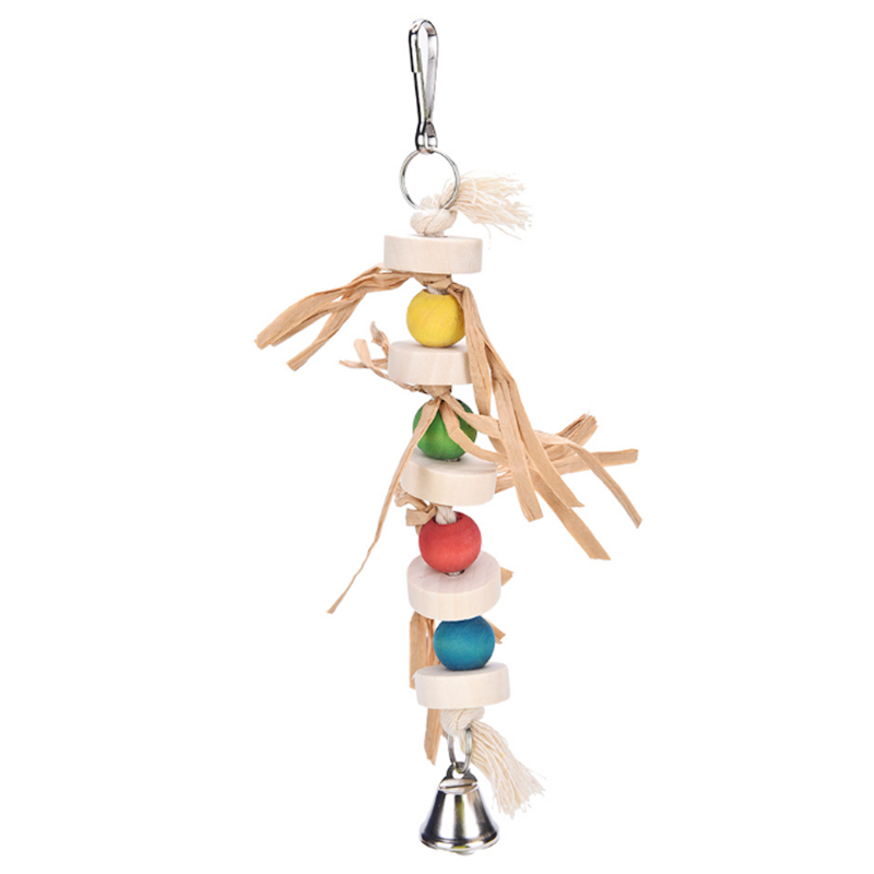 1 pcs Birds Toys Parrot bite string medium and small Pet parrot straw hand grab toys Wood stand swing bird cage Accessories