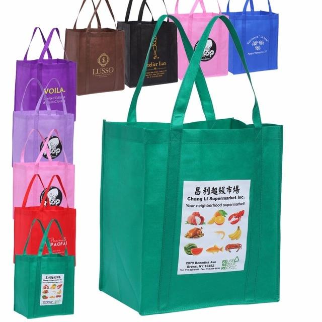 100pcs Customized Eco Friendly Reusable Shopping Bags