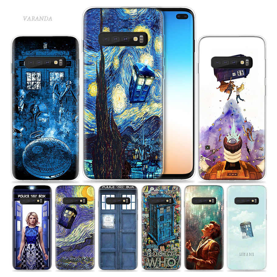 Box Doctor Who Van Gogh Case for Samsung Galaxy S8 S9 S10 5G S10e S7 Note 8 9 10 J4 J6 Plus J5 J8 2018 J3 Silicone Phone Bags
