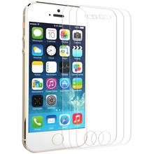 [3 PC]Screen Protector For Iphone 5 5s SE GrandEver Tempered Glass HD Transparent Screen Protector With Free Foil Tool  buff ultimate shock absorption glossy screen protector for iphone 5 transparent