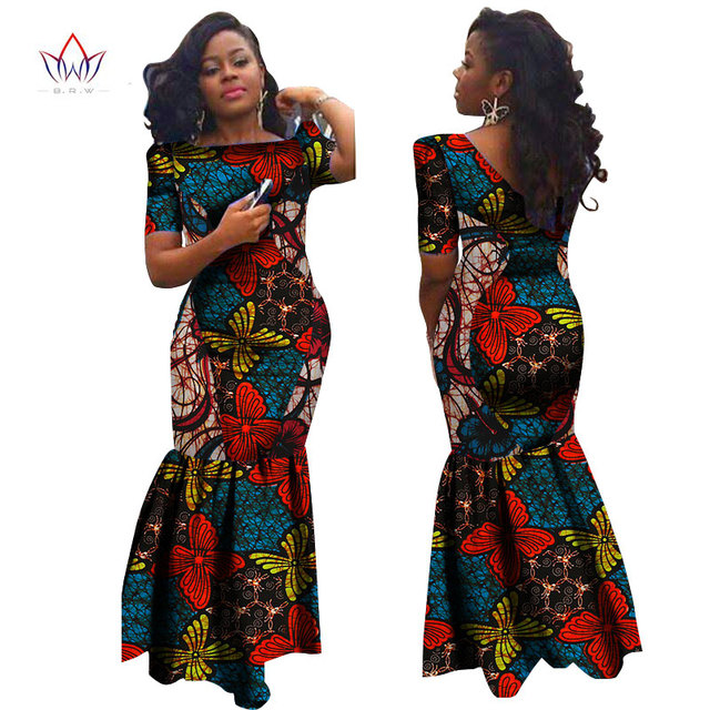 Bodycon Plus Size African Dresses For Women Lace Brand Custom Clothing Africa Wax Dashiki Slim
