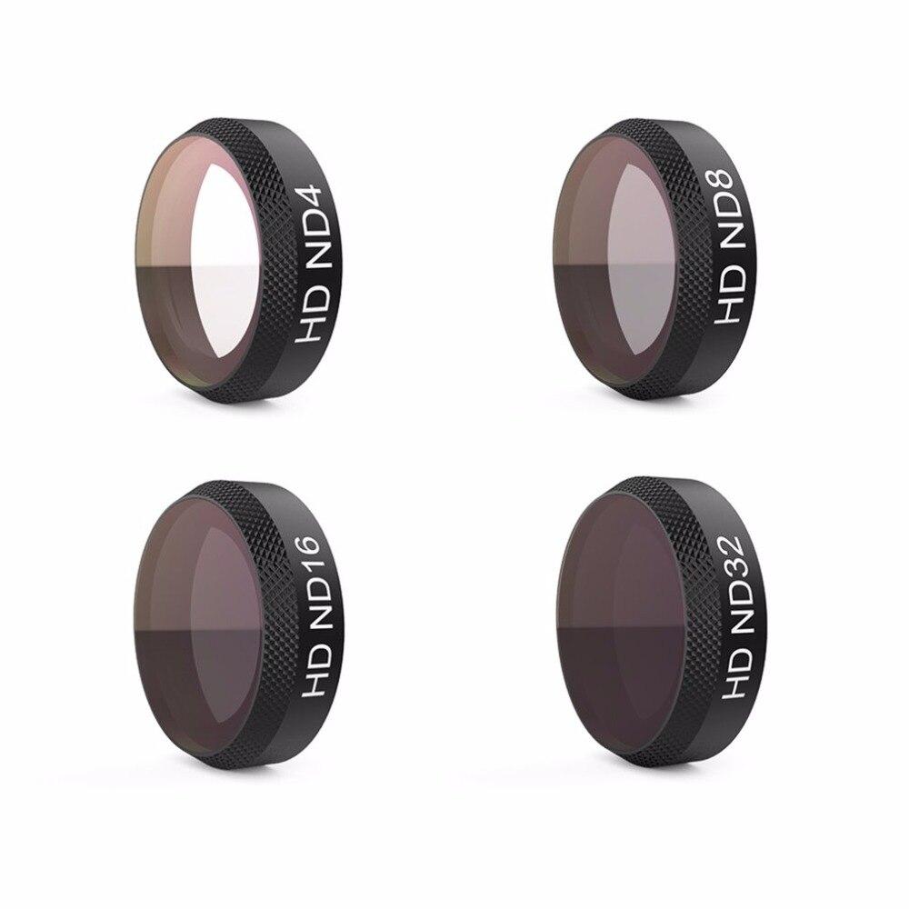 4pcs/set PGYTECH Lens Filters ND4 ND8 ND16 ND32 Camera Filter Set Kit Thread Version for DJI MAVIC AIR pgytech filter 6pcs uv nd4 nd8 nd16 nd32